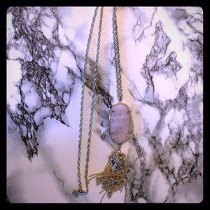 Kendra Scott Rose Quartz Rayne Necklace